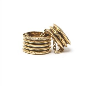 House of Harlow Double Ring in Gold